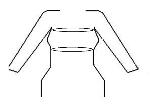 Body schematic underbust & upper chest