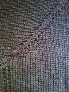 Everyday Cardigan close up bust shaping yoke