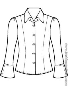 princess line blouse drawing