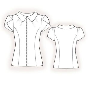 princess line blouse sporty look drawing
