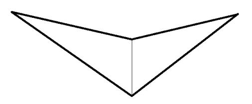 long tail triangle shawl