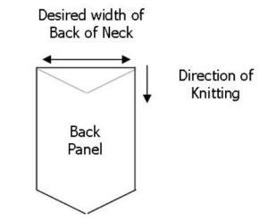 Build a V back panel CHILD