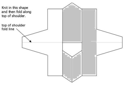 Build a V child blank schematic - shaded back panel, front panels & side panel